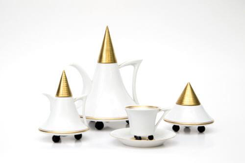 Кофейный сервиз — Белый с золотом (дизайнерская серия)