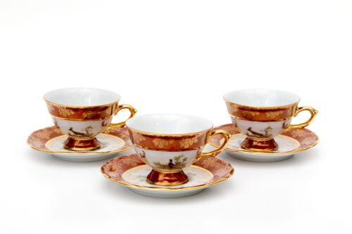 Чайный набор — Охота красная (комплект 6 пар)