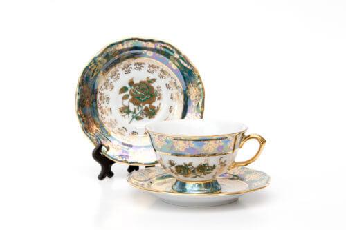 Чайная пара — Зеленая роза (на 1 персону)
