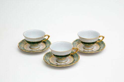 Чайный набор — Зеленый лист (комплект 6 пар)