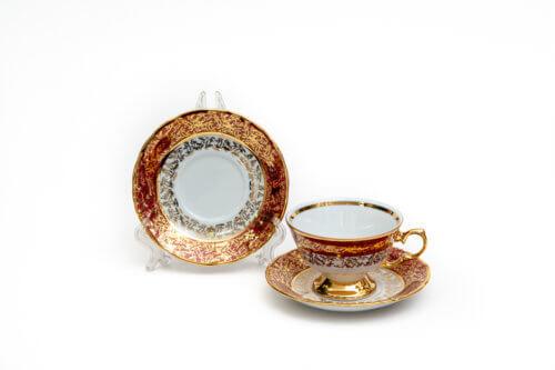 Чайный набор — Красный лист (комплект 6 пар)
