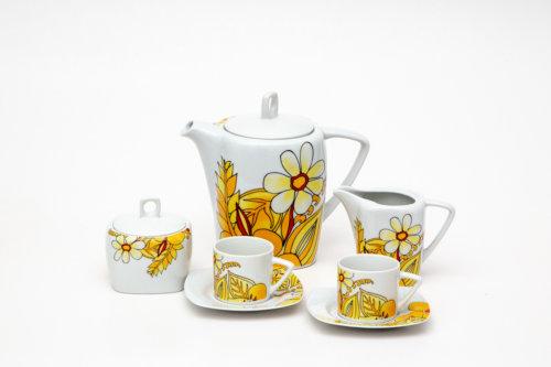 Кофейный сервиз — Желтые цветы
